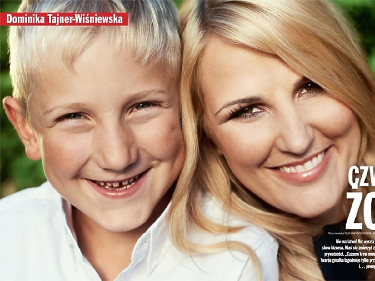 """Dominika Tajner-Wiśniewska z synem - sesja i wywiad dla magazynu """"Viva!"""" CZWARTA ŻONA, Dominika Tajner w """"Vivie!"""""""