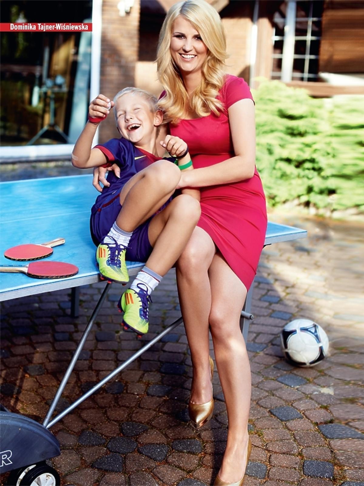 Dominika Tajner-Wiśniewska z synem - sesja i wywiad dla magazynu
