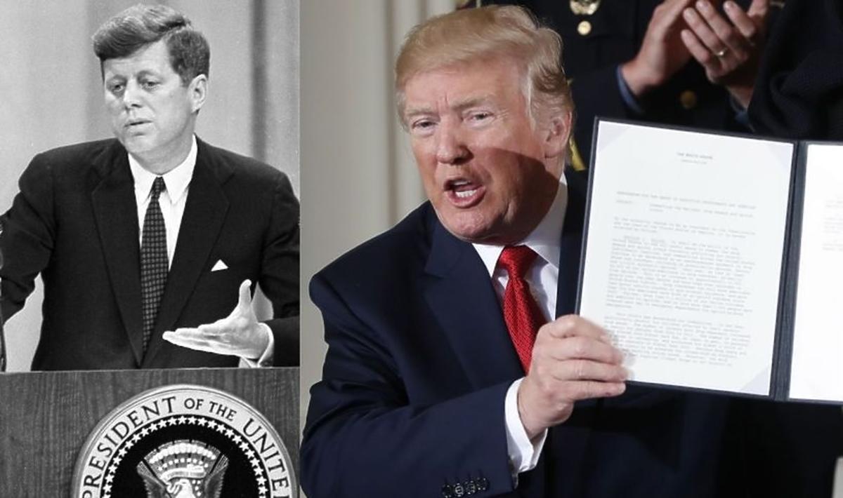 Donald Trump ujawnił część dokumentów dotyczących zabójstwa JFK