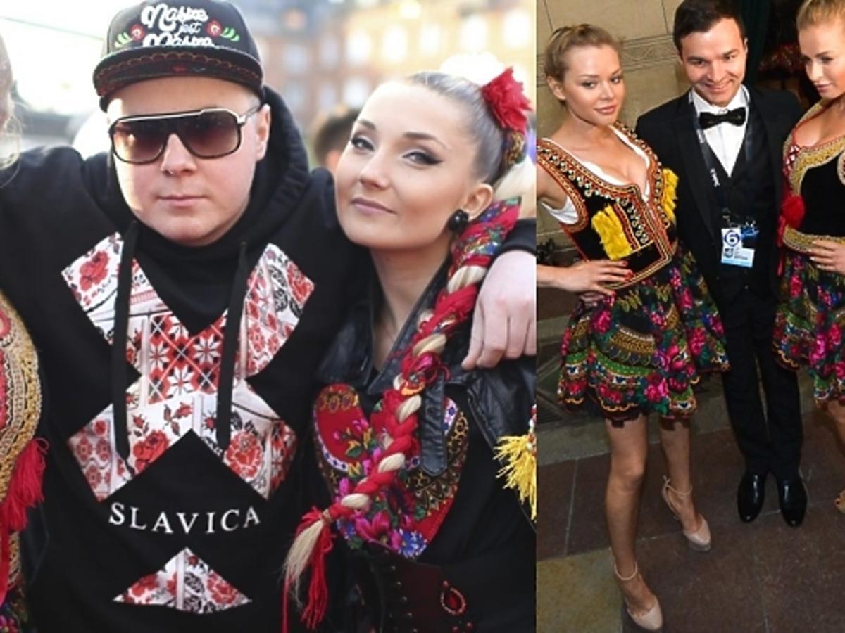 Donatan i Cleo na czerwonym dywanie Eurowizji