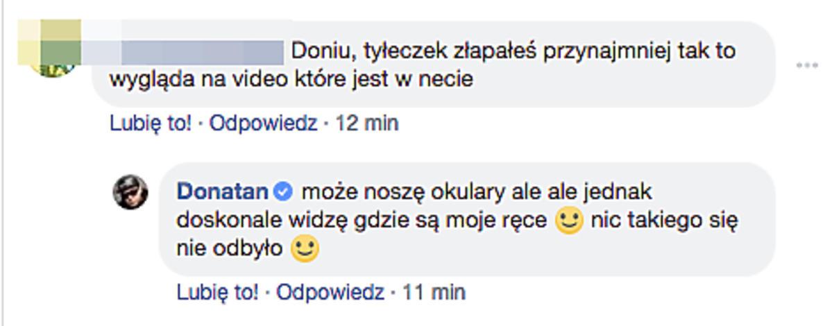 Donatan tłumaczy się z afery z Edytą Górniak