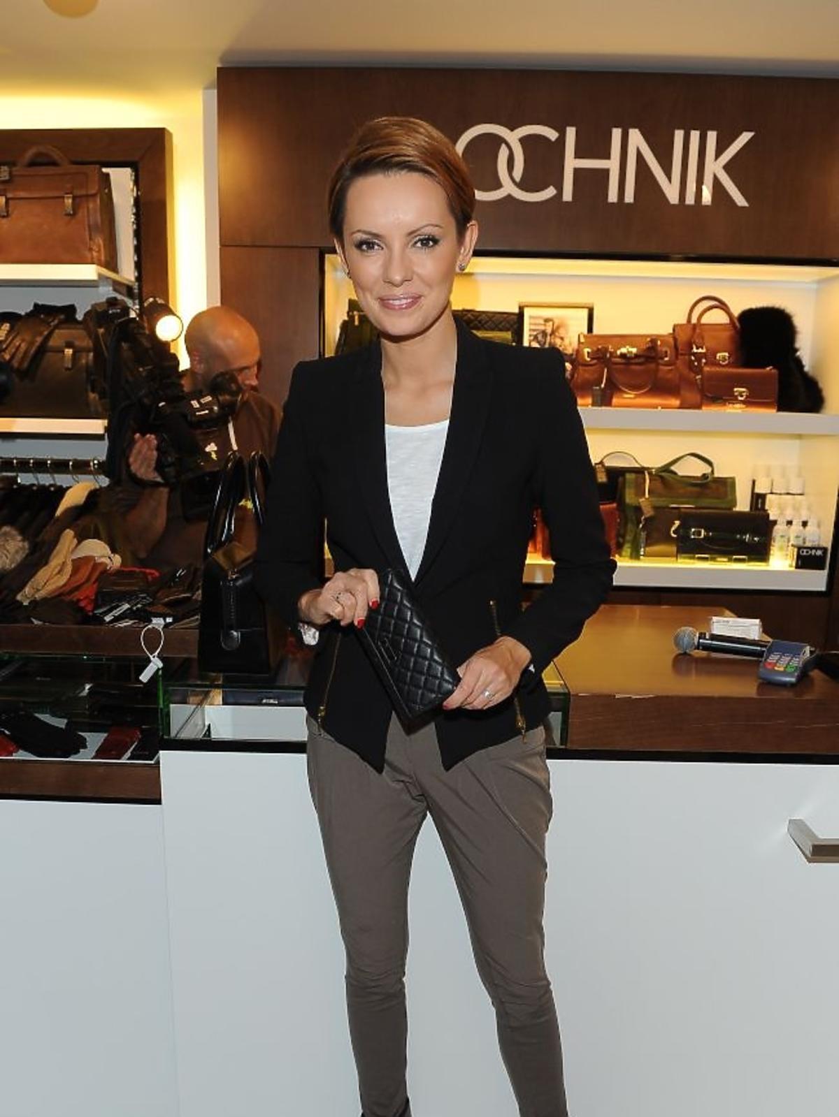 Dorota Gardias na jesiennych zakupach w salonie Ochnik