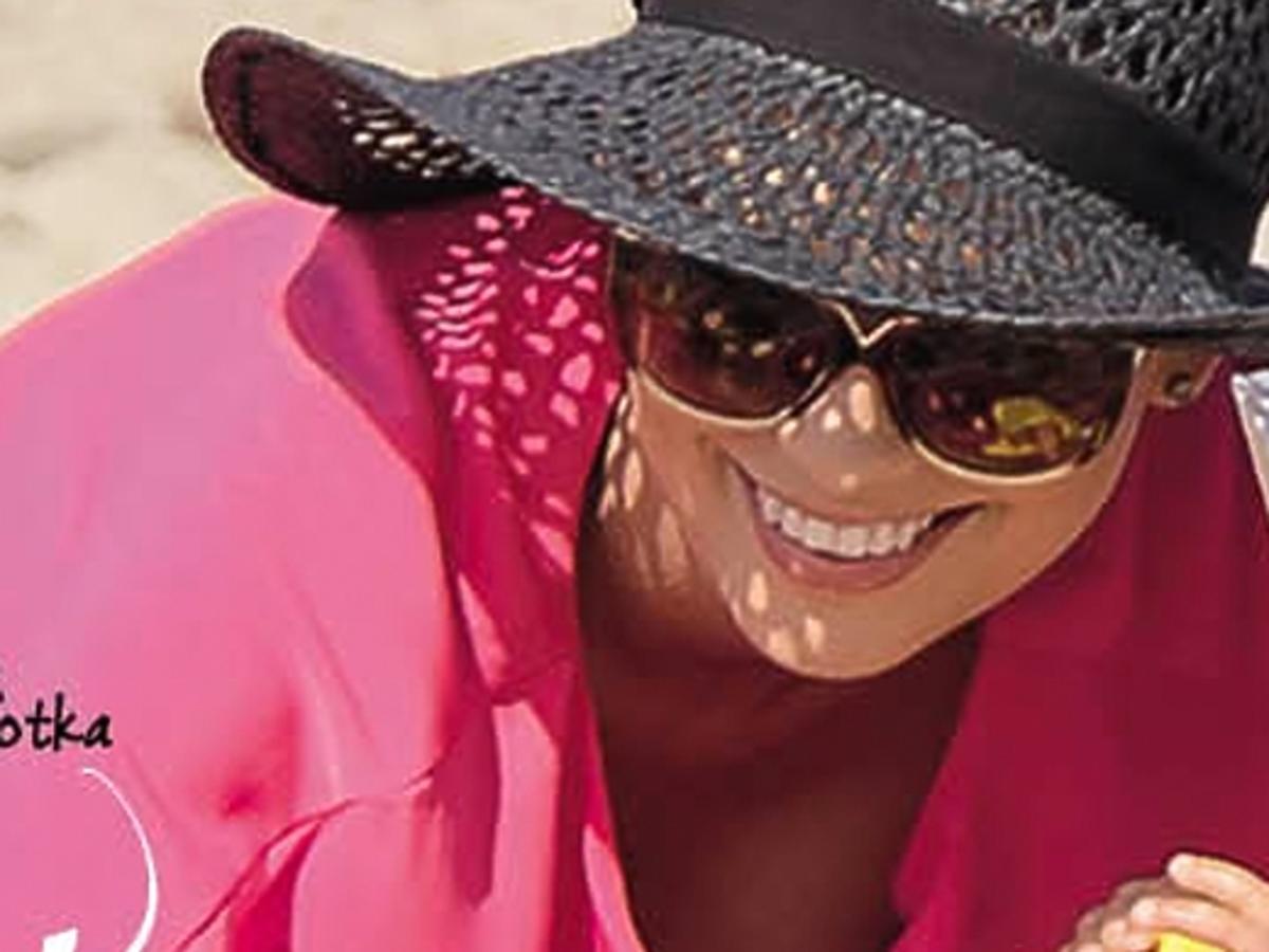 Dorota Gardias z córką na wakacjach