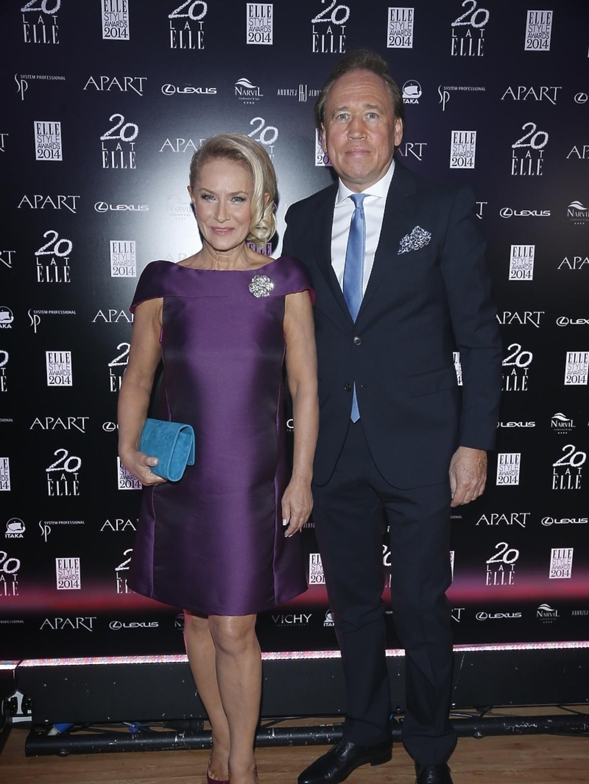 Dorota Soszyńska i Wojciech Soszyński na Elle Style Awards 2014