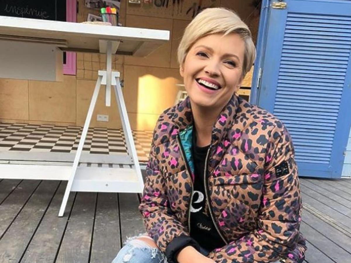 Dorota Szelągowska na planie swojego programu