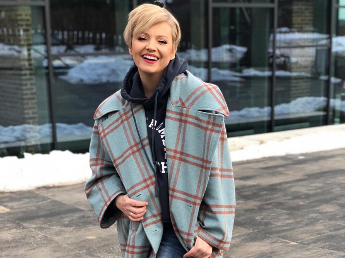Dorota Szelągowska w płaszczu