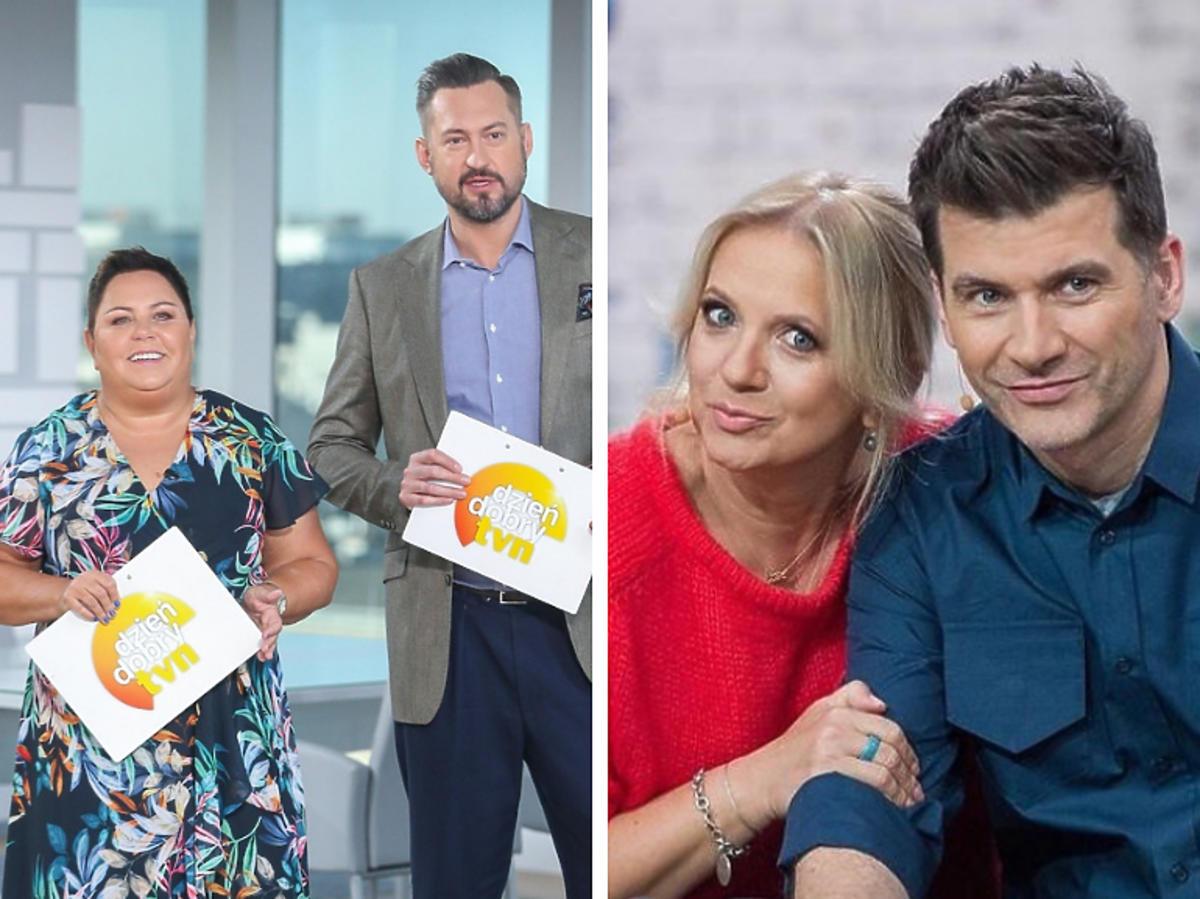 Dorota Wellman i Marcin Prokop w DDTVN oraz Marzena Rogalska i Tomasz Kammel w PnŚ