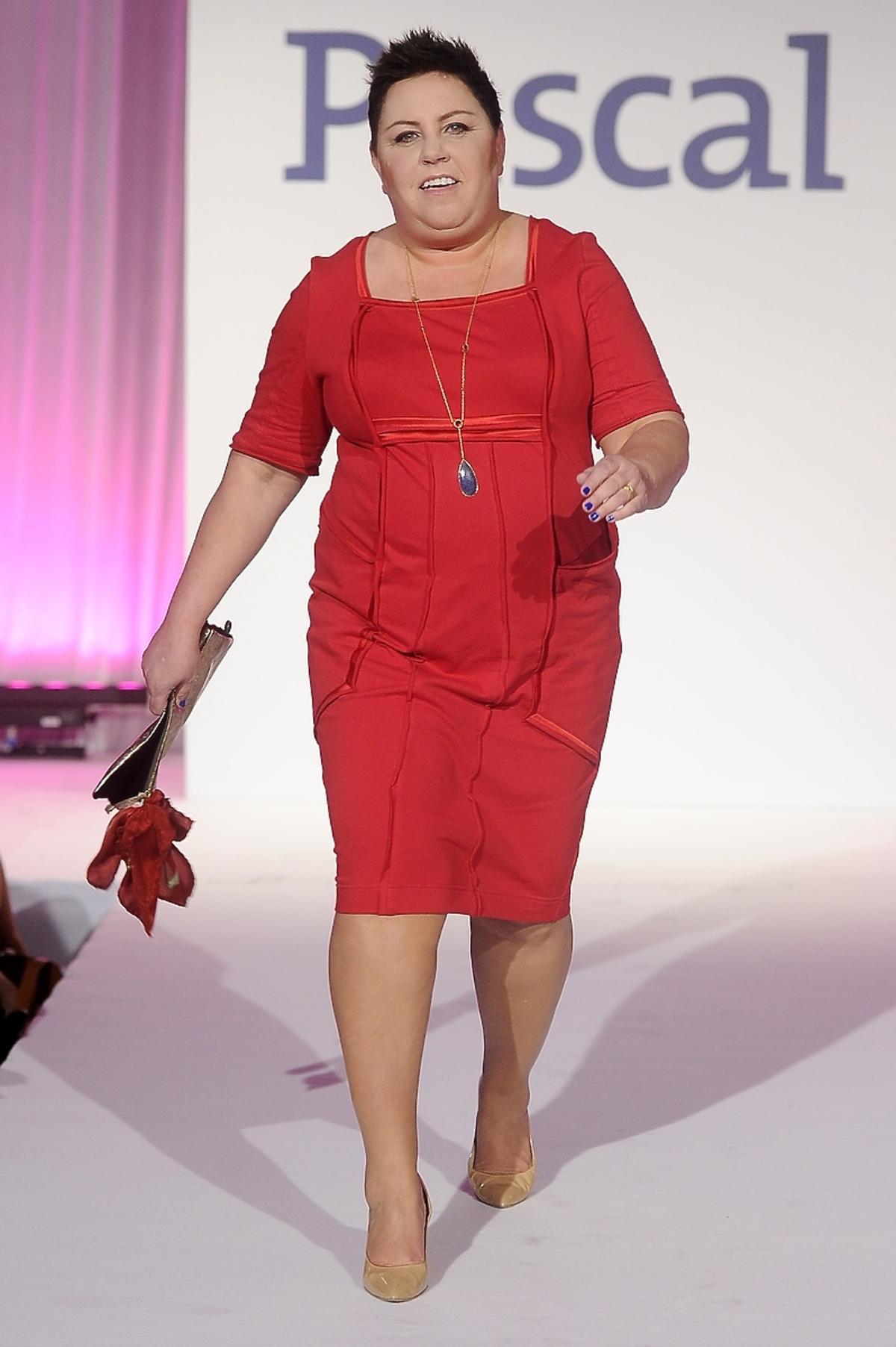 Dorota Wellman na premierze książki
