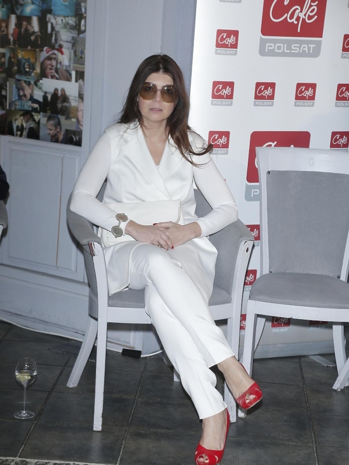 Dorota Wróblewska na prezentacji wiosennej ramówki Polsat Cafe