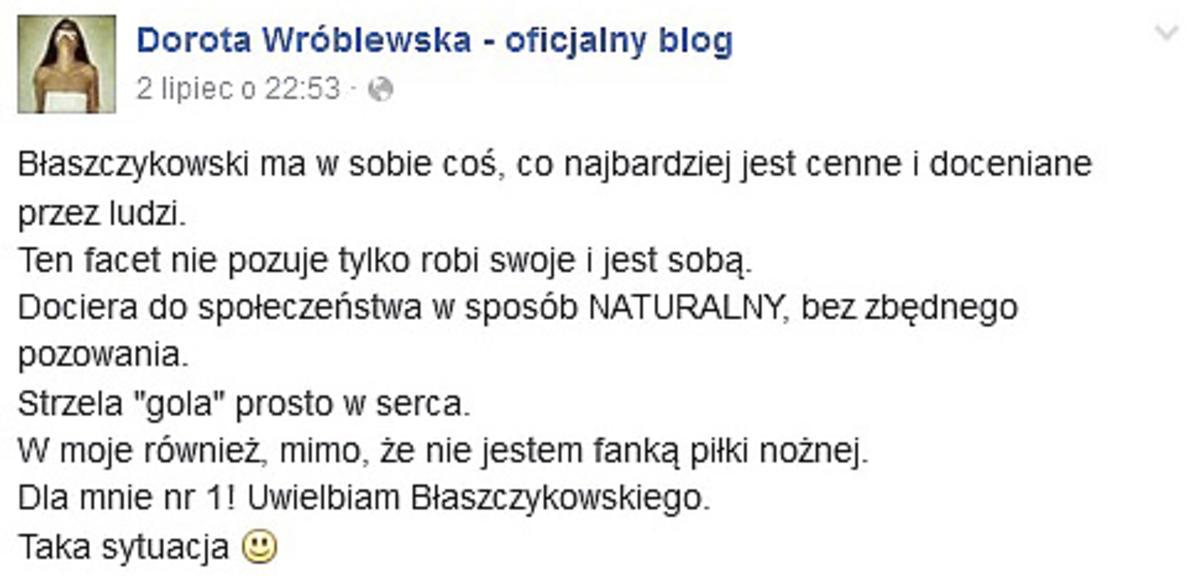 Dorota Wróblewska zachwycona Kubą Błaszczykowskim
