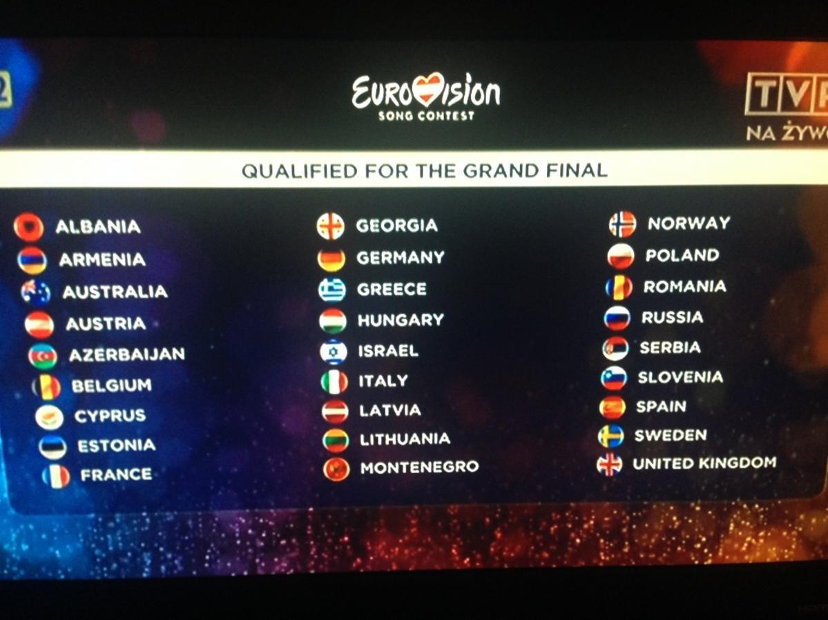 Drugi półfinał Eurowizji 2015