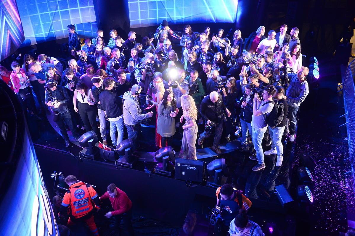 Dwie osoby spadły ze sceny podczas preselekcji do Eurowizji