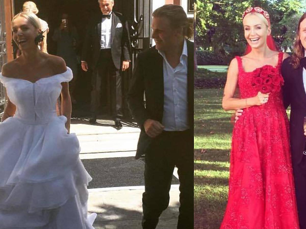 Dwie suknie ślubne Agnieszki Szulim