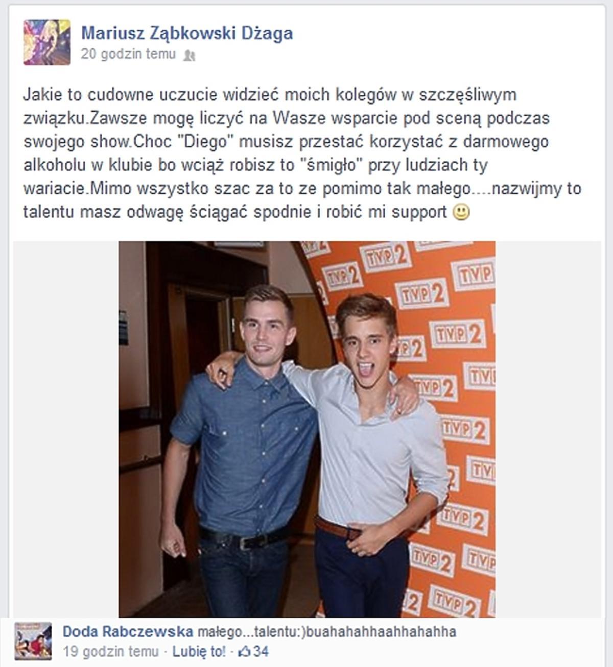 Dżaga i Doda wyśmiewają aktorka z Rodzinki.pl