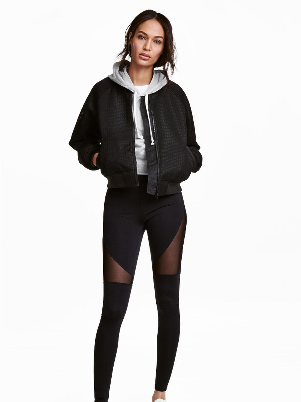 Dżersejowe legginsy H&M panelowe wiosna 2017