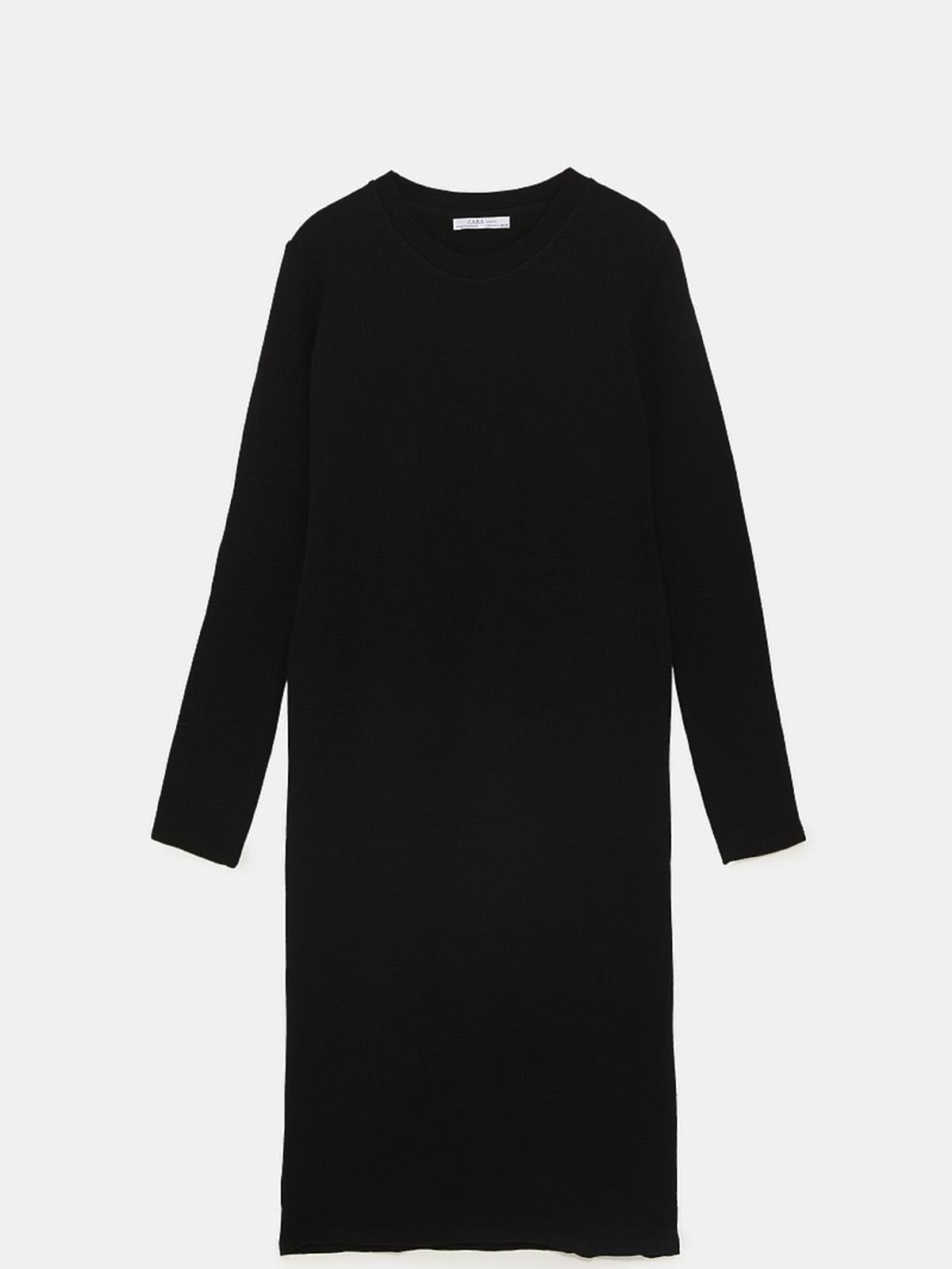 Dzianinowa sukienka Zara cena 89 zł