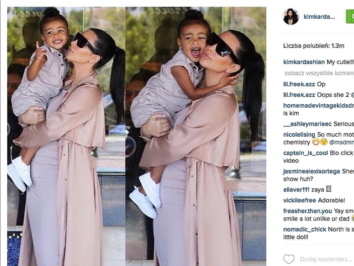 North West z mamą - Kim Kardashian