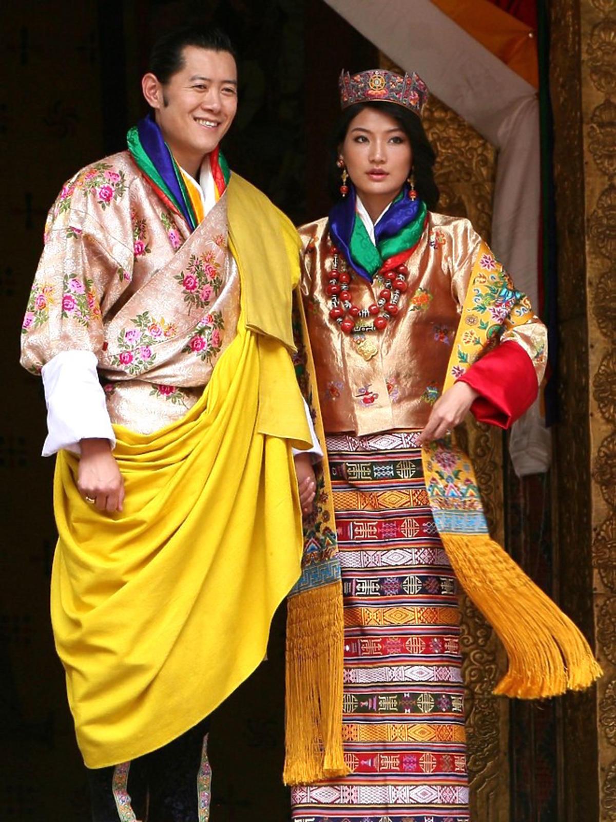 Dziecyn Pema i król Jigme Khesar Namgyel Wangchuck