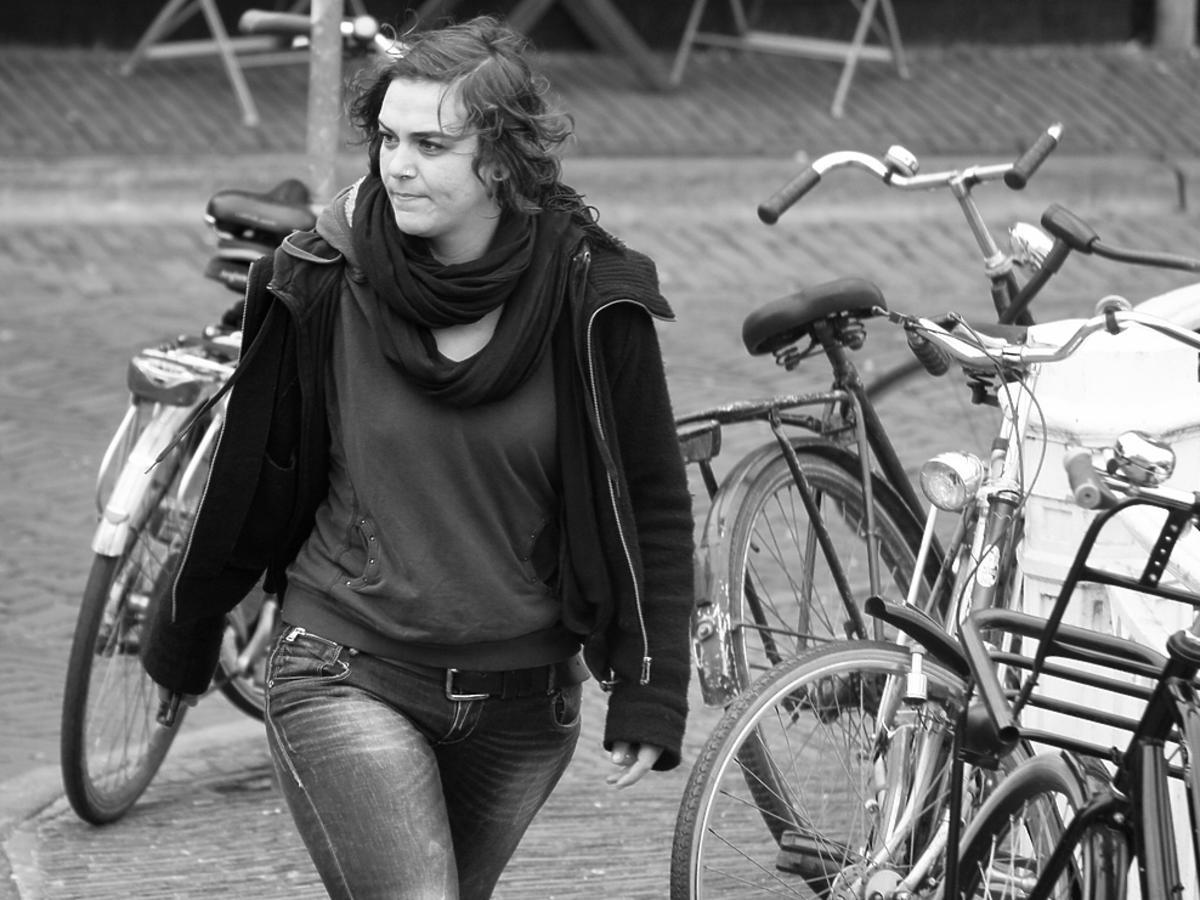 Dziewczyna i rowery