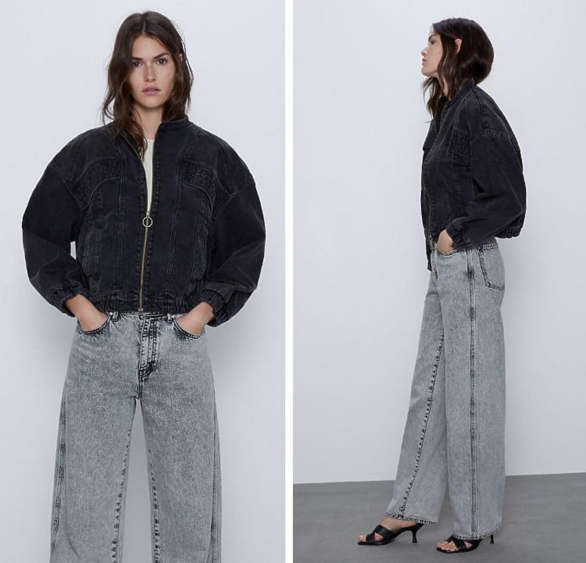 Dżinsowa kurtka w stylu lat 80-tych Zara