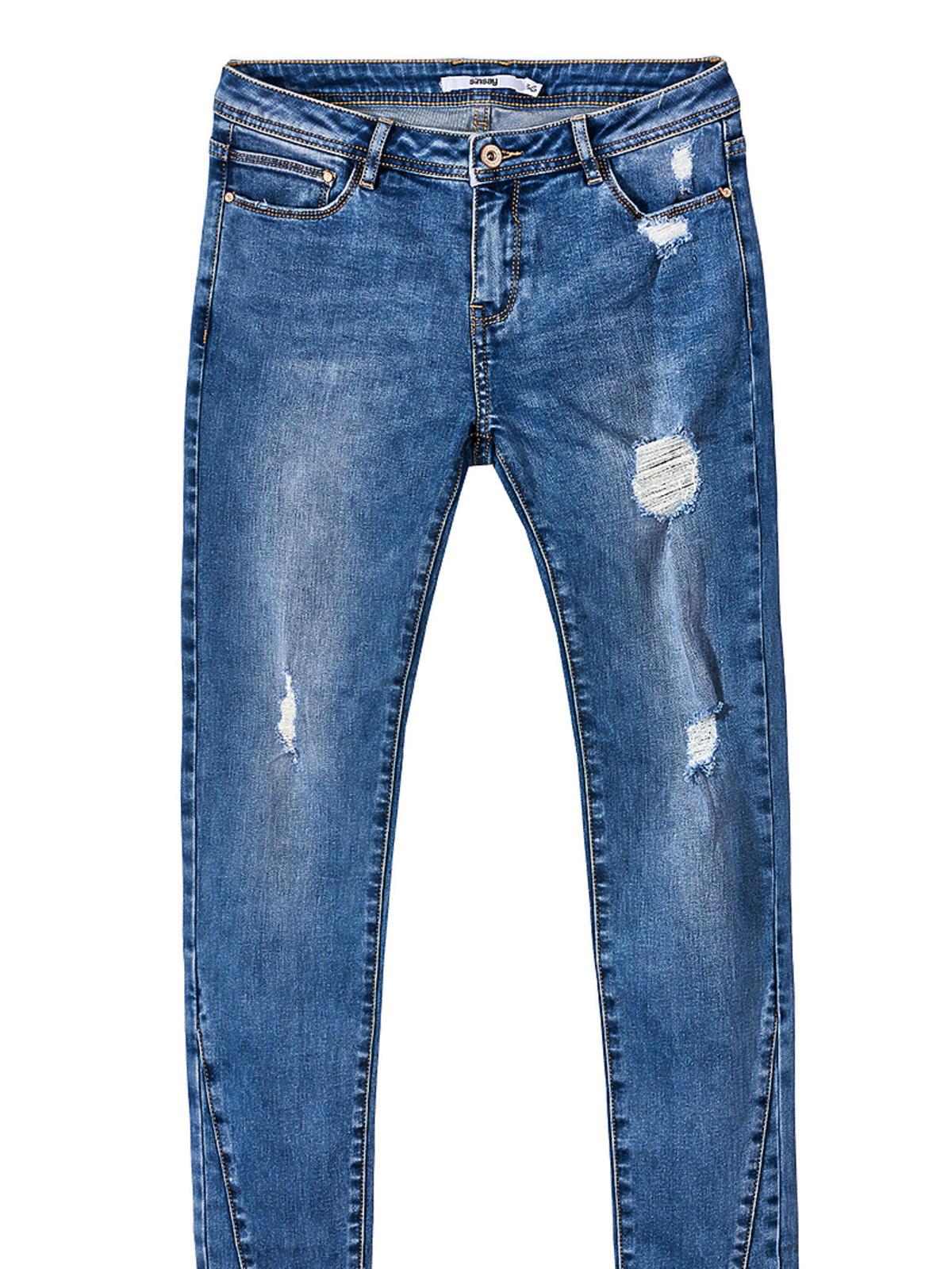 Dżinsy z postrzępionymi nogawkami - Sinsa,y 79,99 zł