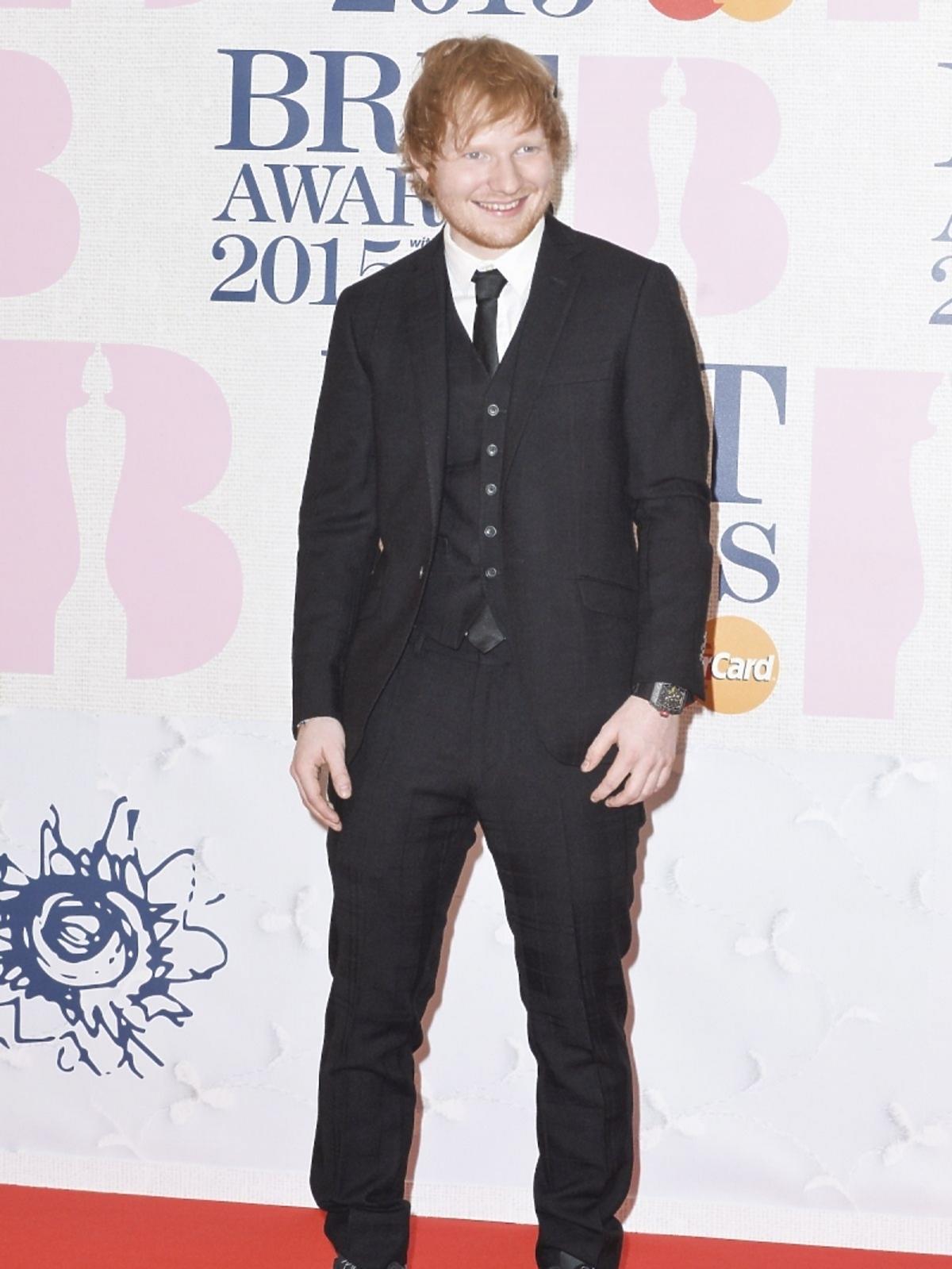 Ed Sheeran na gali Brit Awards 2015