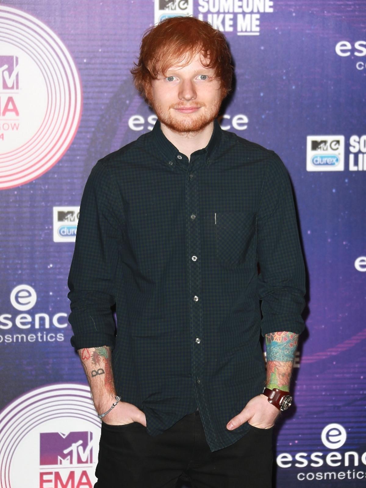 Ed Sheeran na MTV EMA 2014 w Glasgow