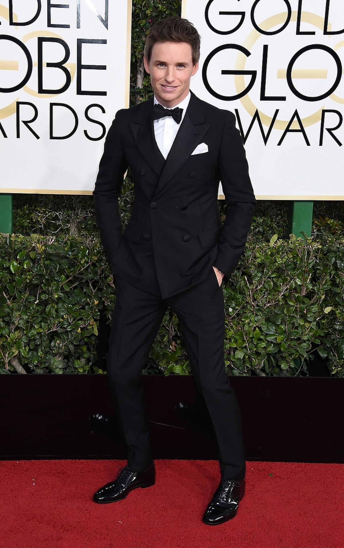 Eddie Redmayne na rozdaniu Złotych Globów 2017
