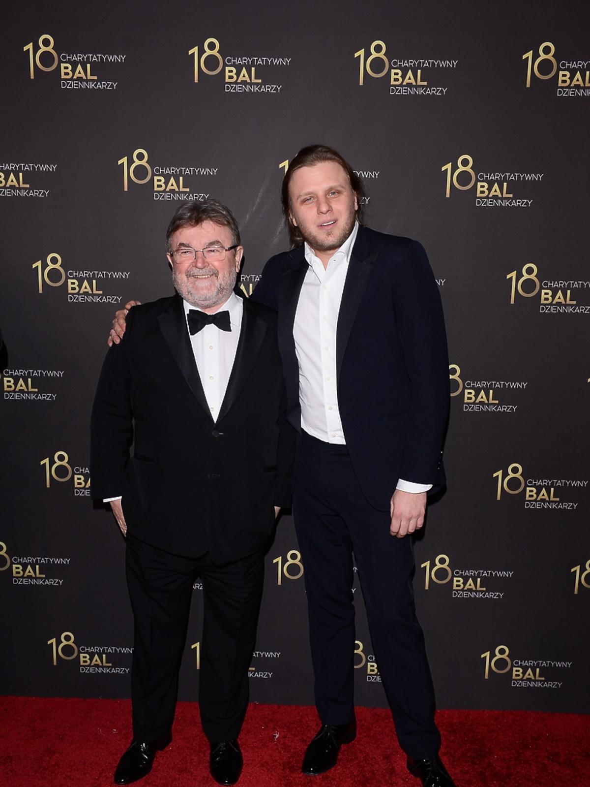 Edward Miszczak i Piotr Woźniak-Starak na Balu Dziennikarzy
