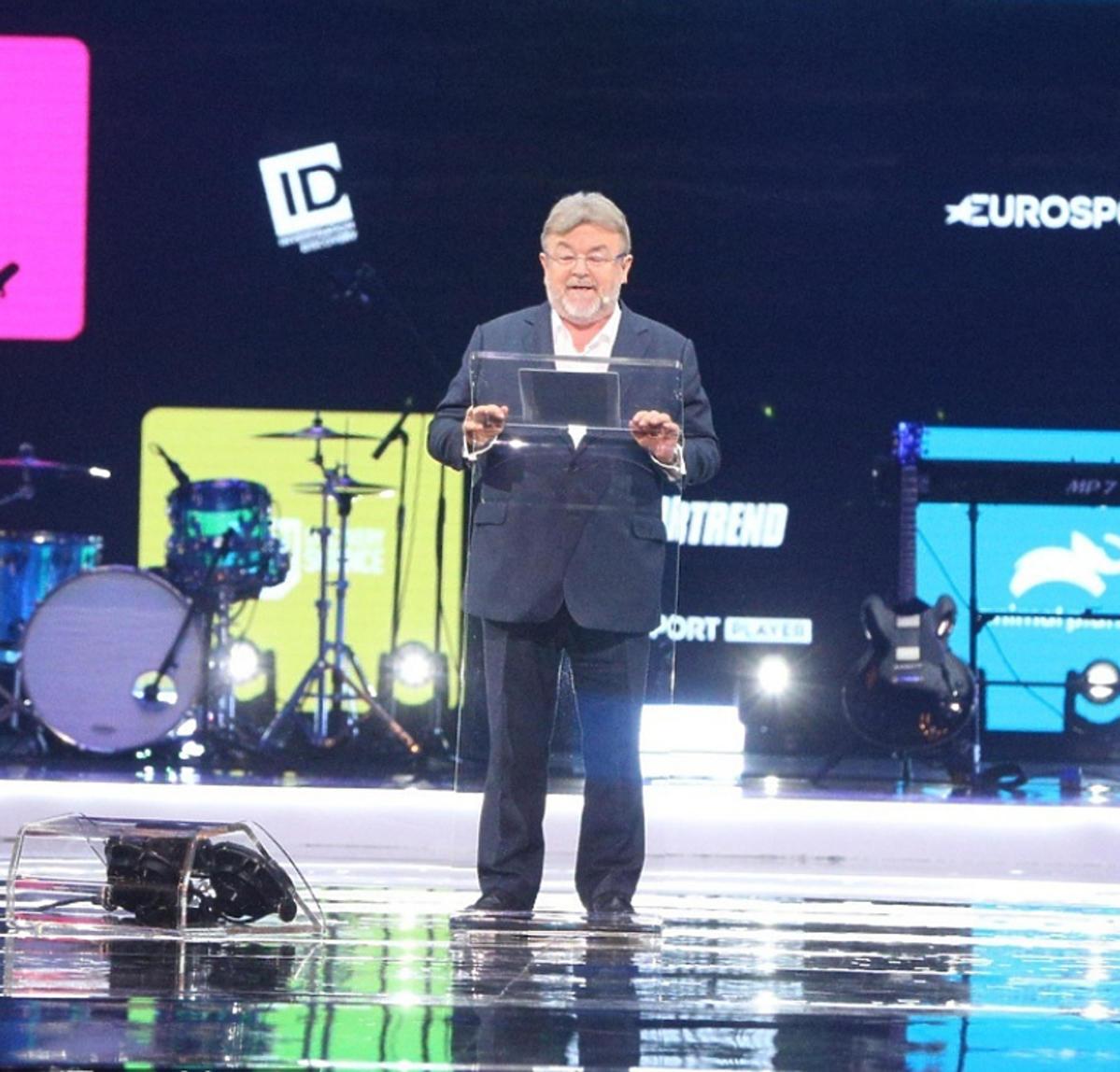 Edward Miszczak na prezentacji jesiennej ramówki TVN