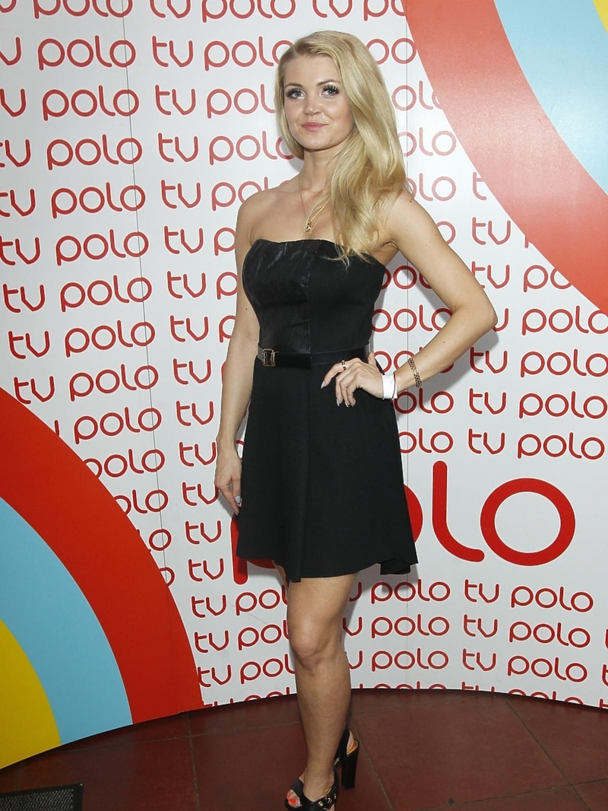 Edyta Folwarska na urodzinach Polo TV