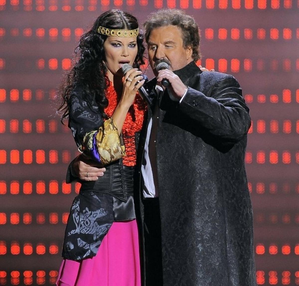 Edyta Górniak i Krzysztof Krawczyk śpiewają na festiwalu w Sopocie
