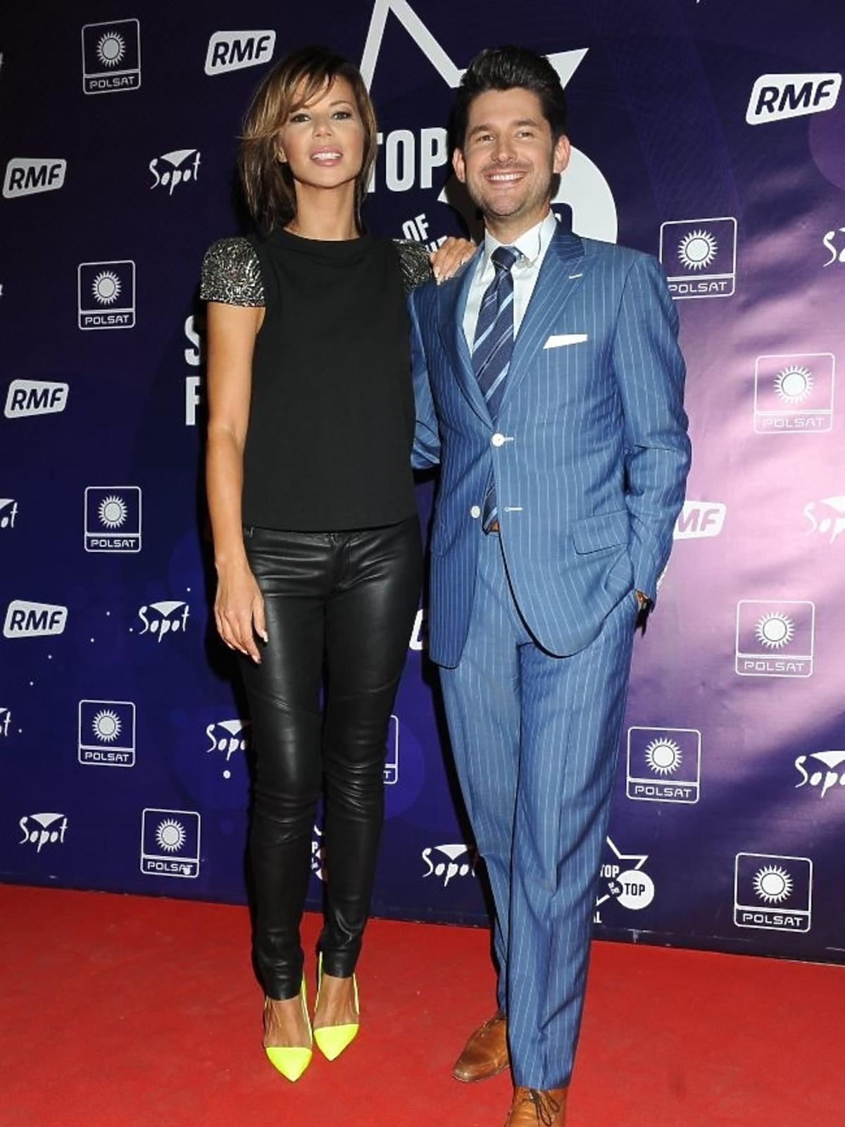 Edyta Górniak i Matt Dusk podczas pierwszego dnia Sopot Top of the Top Festival 2013