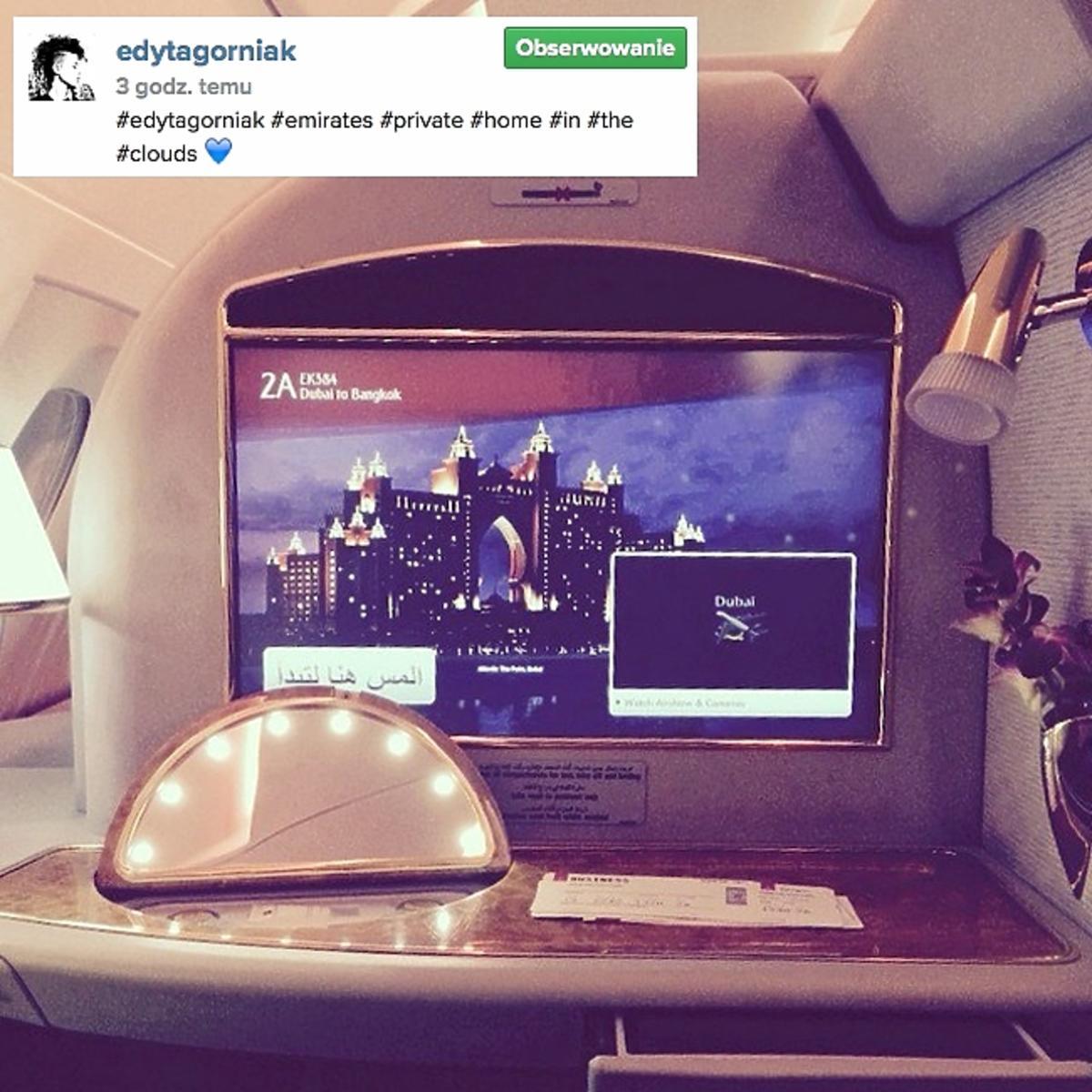 Edyta Górniak leci liniami Emirates