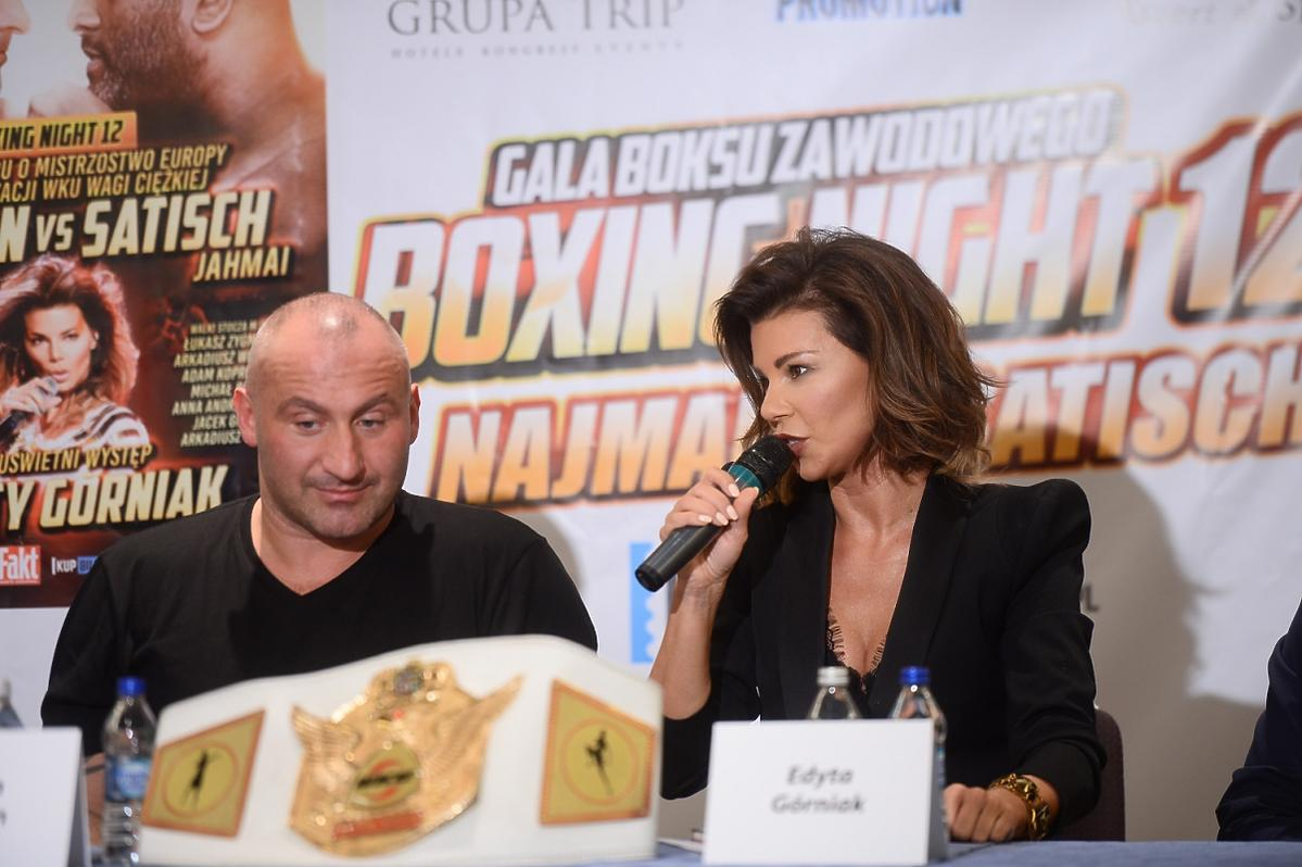 Edyta Górniak na konferencji prasowej gali Boxing Night