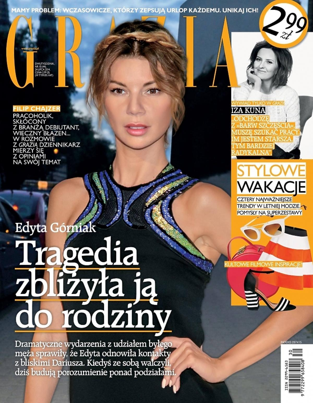 Edyta Górniak na okładce Grazii