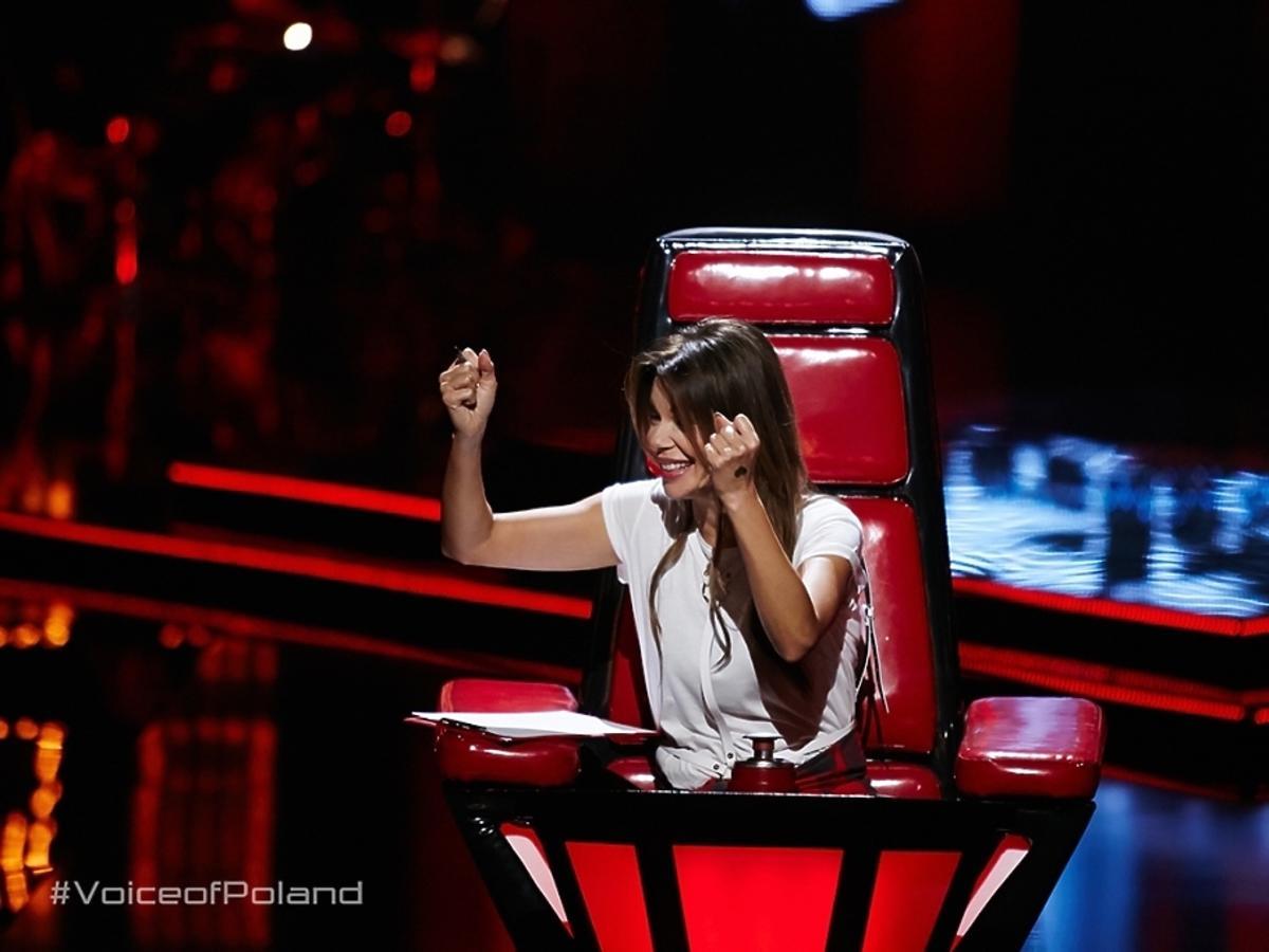 Edyta Górniak na planie The Voice of Poland 6