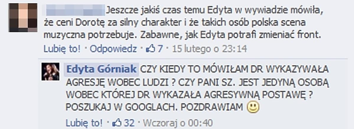 Edyta Górniak o bójce Dody z Szulim