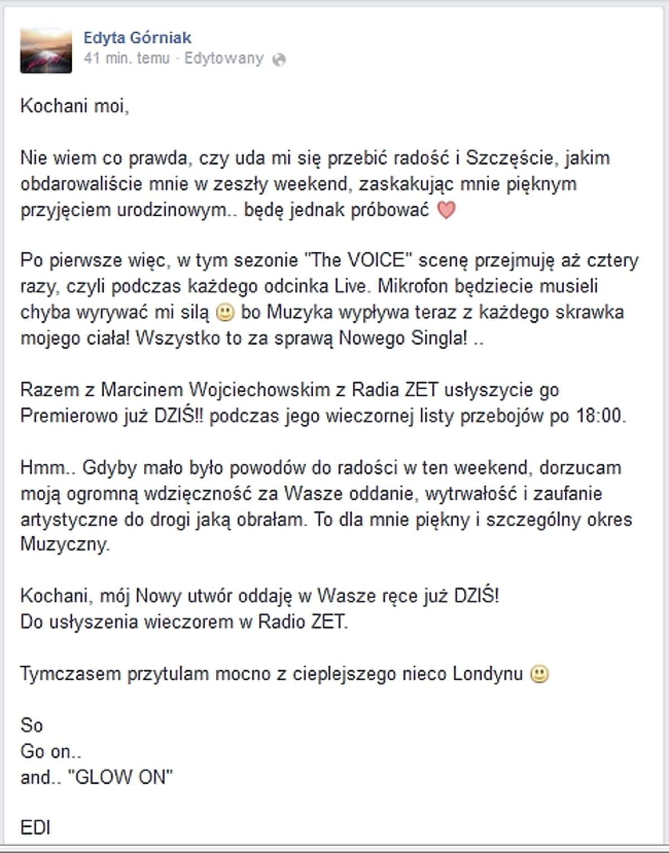 Edyta Górniak o nowym singlu