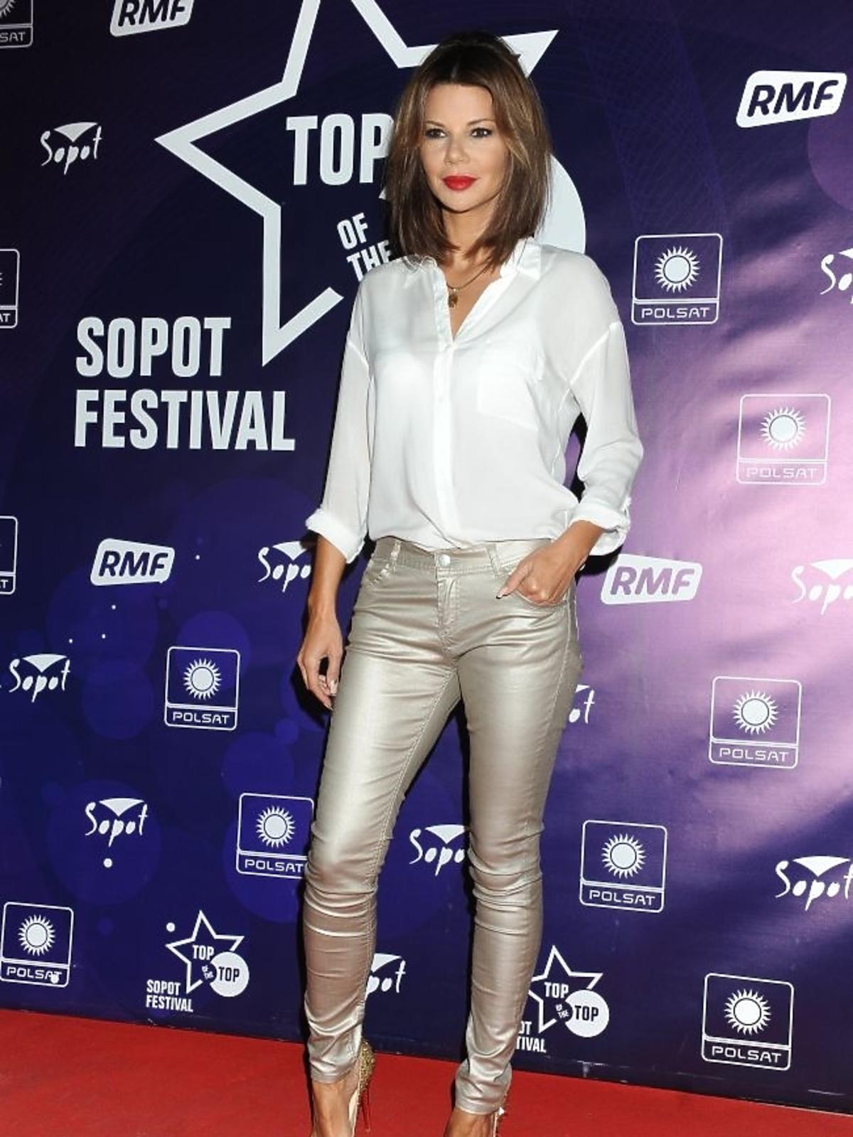 Edyta Górniak podczas pierwszego dnia Sopot Top of the Top Festival 2013
