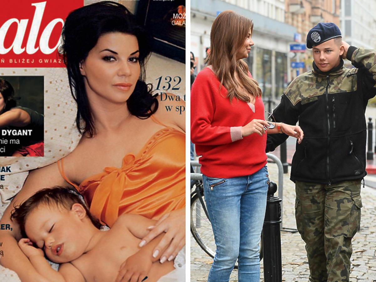 Edyta Górniak z synem - kiedyś i teraz