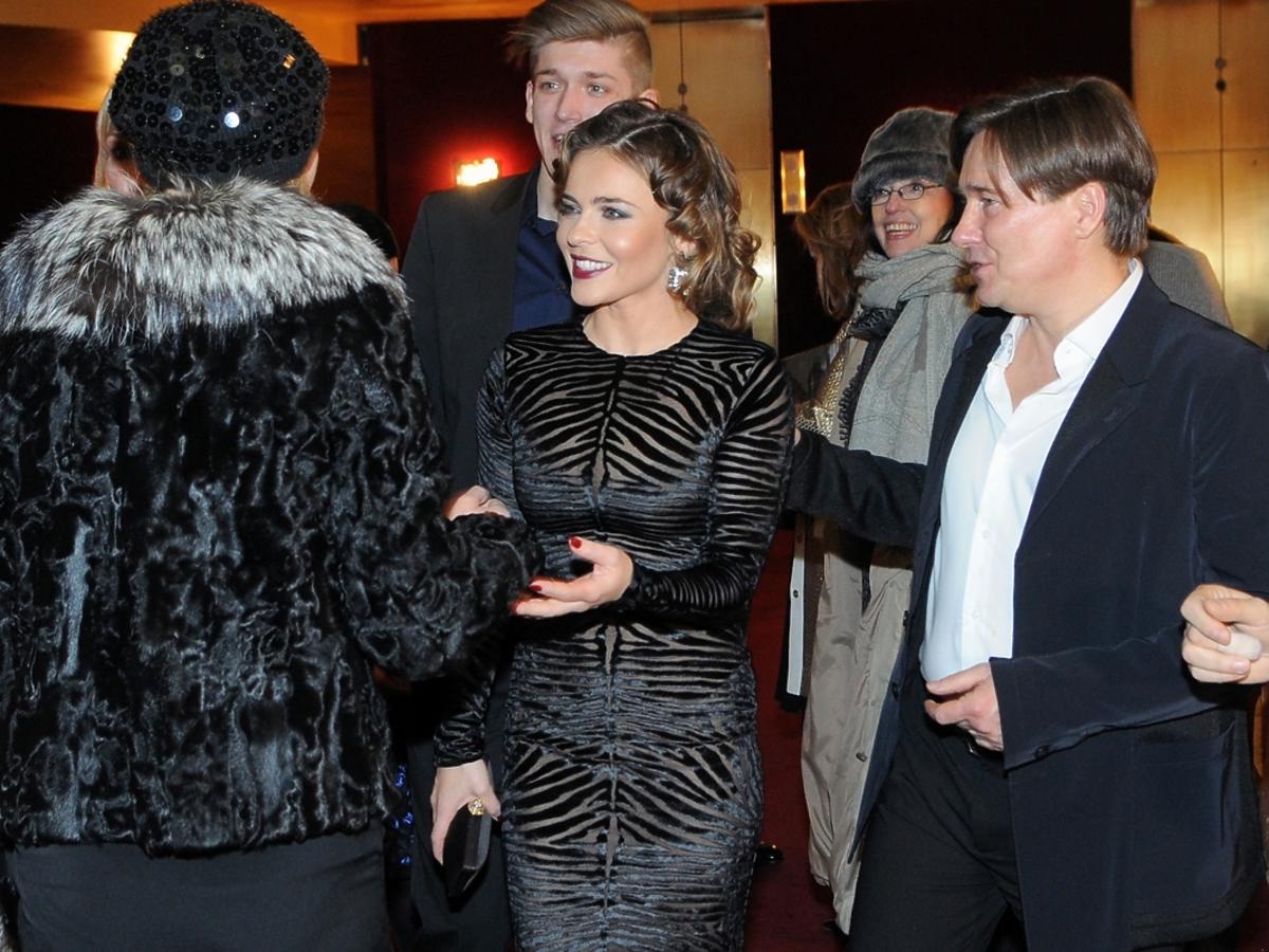 Edyta Herbuś i Mariusz Treliński na premierze