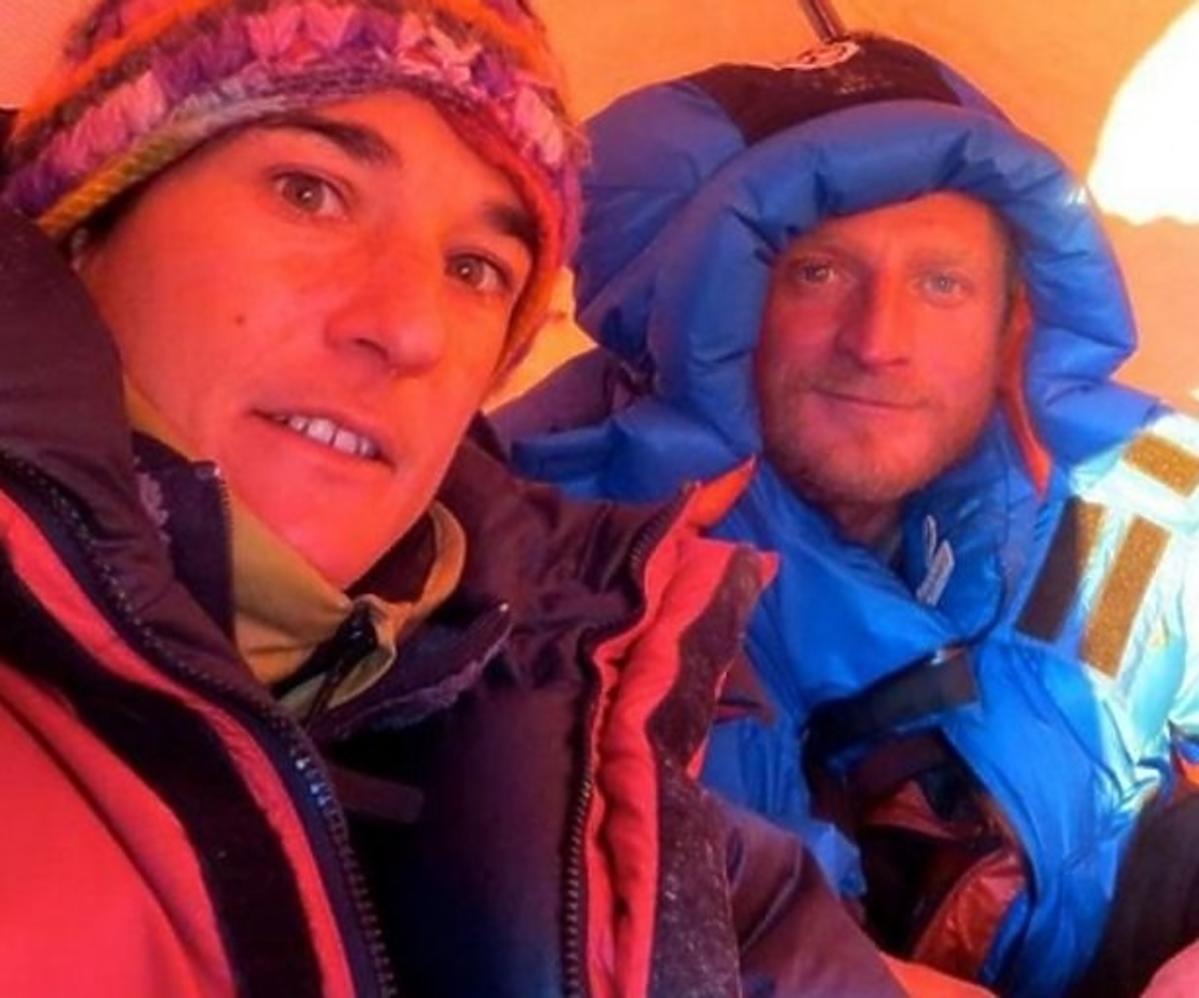 Elisabeth Revol i Tomasz Mackiewicz podczas wyprawy