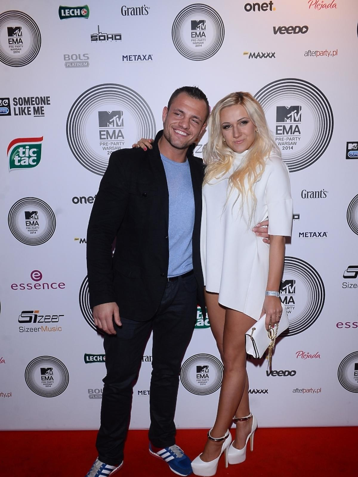 Eliza i Trybson z Warsaw Shore na MTV EMA PreParty 2014