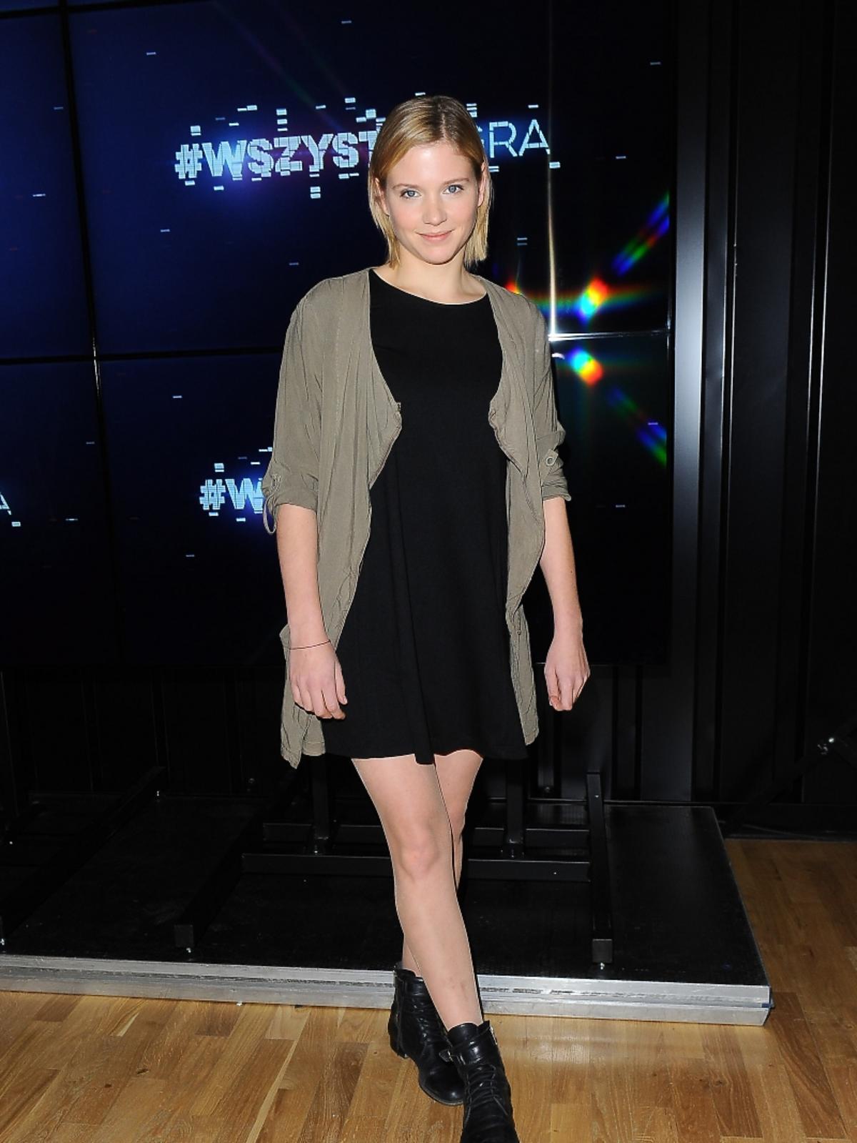 Eliza Rycembel w czarnej sukience