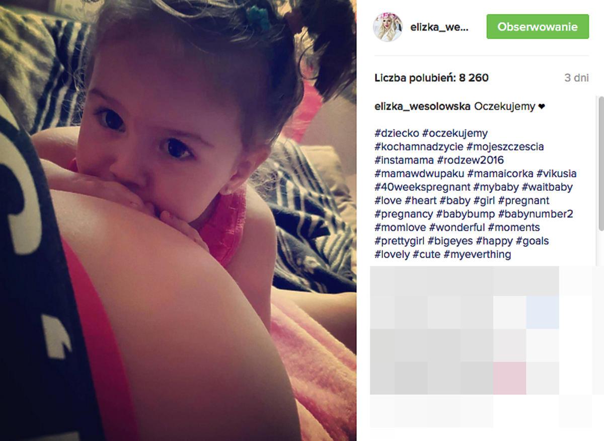 Eliza Wesołowska urodziła 2 córkę