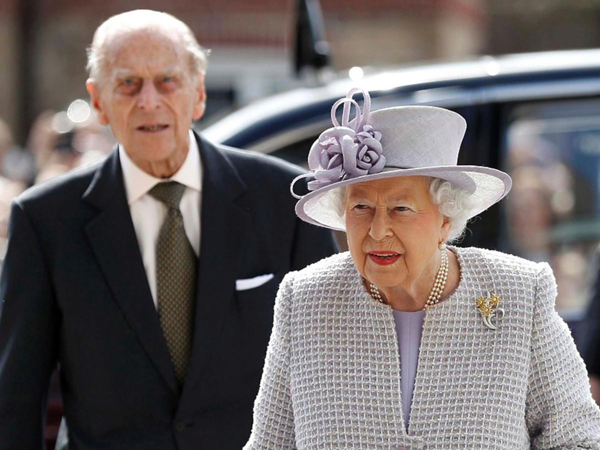 Elżbieta II i książę Filip w Londynie