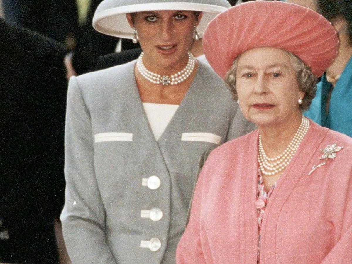 Elżbieta II i księżna Diana w Londynie