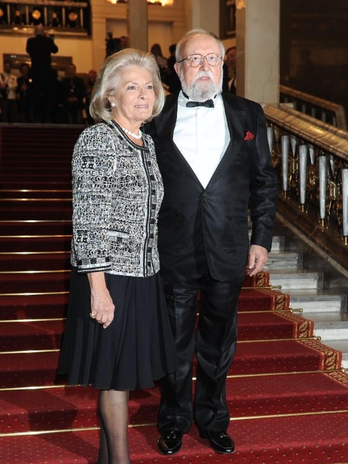 Elżbieta Penderecka i Krzysztof Penderecki na gali Paszporty Polityki 2012