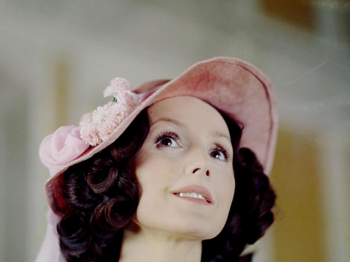 """Elżbieta Starostecka w """"Trędowatej"""", 1976 r."""